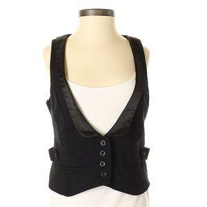 Women's Tuxedo Vest Gap Black